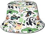 Unisex Animales de zoológico exóticos Sombrero de Cubo de Viaje Gorra de Pescador de Verano Sombrero para el Sol-Animales de zoológico exóticos