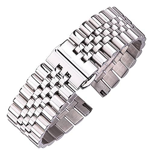 LvSenLin Candadas De Reloj De Acero Inoxidable Polida Plata Reloj Rápido Reloj De Reloj Malla De Metal Reemplazo Reloj Correa De Pulsera para Mujer Mujer