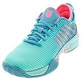 K-Swiss Women's Hypercourt Supreme Tennis Shoe (Aruba Blue/Maui Blue/Soft Neon Pink, 7)