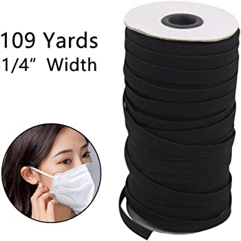 DIY Springy Knitting Spool Cord for Sewing Clothes Black Exceart 1//4 Wide,11Yard Elastic Stretch Bands Stretch Knit Elastic Spool