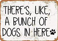 犬の束壁の金属のポスターレトロなプラーク警告ブリキの看板ヴィンテージ鉄の絵画の装飾バーガレージカフェのための面白いハンギングクラフト