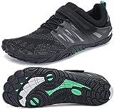 SAGUARO Barefoot Zapatos para Deportes Acuáticos Masculino Ultraligero Respirables Zapatillas de Natación Playa Agua Buceo Cycling Ejercicio Senderismo Zapato Femenino Adulto, Trail Negro 46