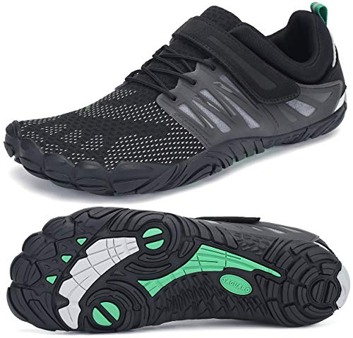 SAGUARO Barefoot Zapatos para Deportes Acuáticos Masculino Ultraligero Respirables Zapatillas de Natación Playa Agua Buceo Cycling Ejercicio Senderismo Zapato Femenino Adulto, Trail Negro 41
