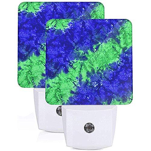 Katrine Store Blaues Wasser spritzt Plug-in-LED-Nachtlicht mit automatischem EIN-Aus-Dämmerungs- bis Morgendämmerungsmodus Flaches Nachtlicht Wohnkultur für Innen 2er-Sets