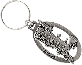Train Engine Locomotive Pewter Key Chain, Key Fob, Key Ring, Gift, A245KC