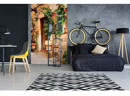 Vlies Fototapete STRAßENGARTEN 150 x 250 cm   Vliestapete - Wandtapete für Wohnzimmer Schlafzimmer Büro Flur   PREMIUM QUALITÄT - MADE IN EU - Inklusive Tapetenkleber