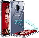LeYi Funda Samsung Galaxy S9 Plus con [2-Unidades] 3D Curvo PET Pantalla,Cristal Transparente...