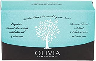 Olivia Natural Bar Soap With Olive Oil & Aloe Vera 3x125gr (3x4.4oz) 3 pack