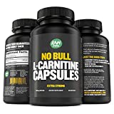 L-Carnitine Capsules, L-Tartrate - Pure, Natural, Extra Strength Supplement for Men and Women – Boost Energy, Performance, Metabolism and Support Heart Health - 500 mg, 120 Pills - by Raw Barrel