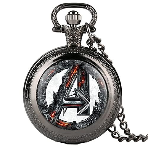 Reloj de Bolsillo Reloj de Bolsillo de Cuarzo Vintage Collar Vintage Reloj de Cadena con Colgante Chrono Regalo Unisex