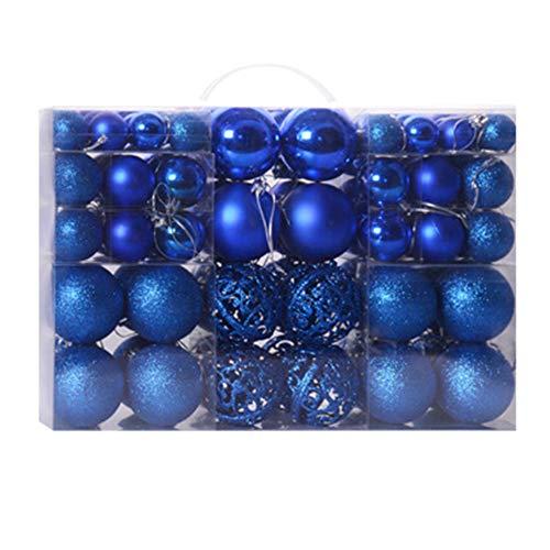 GCDN 100 Pezzi Ornamenti Palline di Natale 3-6 cm, Oro Argento Rosso Blu Vari Colori Sfere di plastica di Natale Albero di Natale Decorazione appesa, Pendenti Albero di Natale