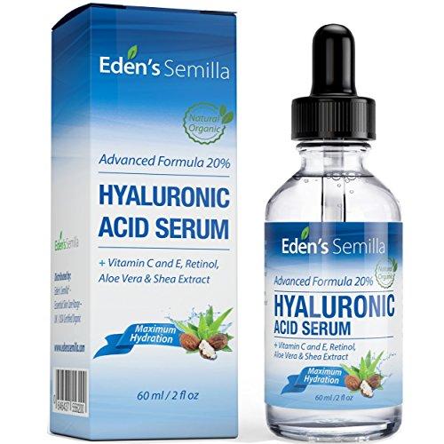 Acido Hialuránico Serum 60ml - Es el mejor anti-edad hidradante para el cutis. Ayuda a reducir las arrugas faciales. Contiene Vitamina C, Retinol, y Vitamina E.