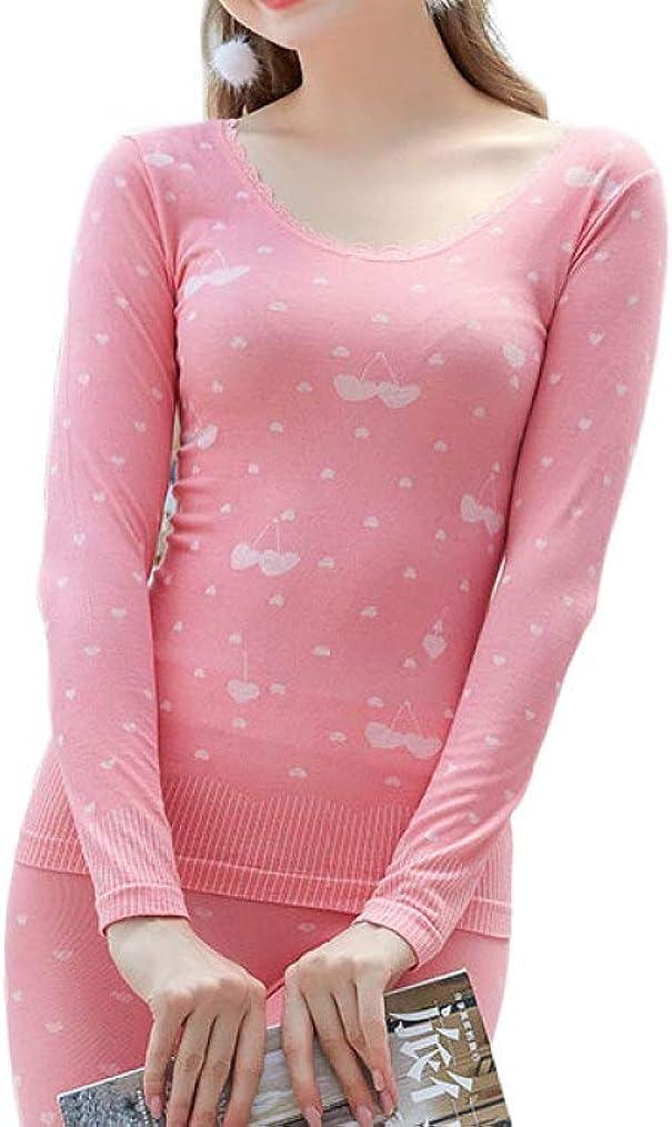 Thermal Underwear for Women Long Underwear Fleece Lined Base Layer Long John Top& Bottom Set