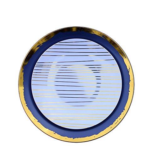 Trendables 40 - Pack Combo Premium Disposable Plastic Plates, Food Grade Elegant Plastic Dinner Plates - Glam Design Includes: 20 x 10.25 Dinner Plates & 20 x 8 Salad/Desset Plates
