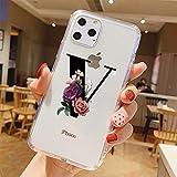 ZZYYLL Coque iPhone 11,Alphabet Anglais étui Housse Clair Silicone TPU Gel Case Cover Coque Bumper Anti-Choc Anti-Scratch...