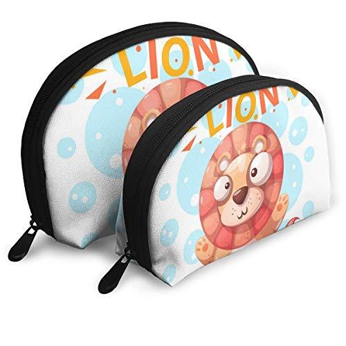 NR Cute Lion Character - Sacs de voyage pour femmes de la marque de voyage Sacs en tissu imperméablePoussière de maquillage pour cosmétiques Sac de rangement pour organisateur et cosmétique