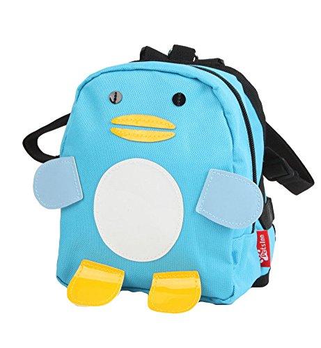 Dessin animé Chien pour animal domestique Chien extérieur Sac à dos de voyage épaules Sac à dos -- Bleu Pingouin