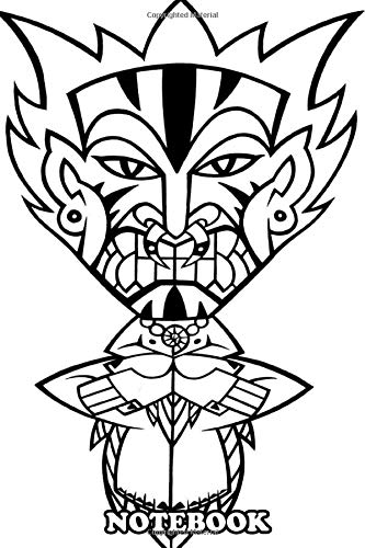 Notebook: Tribal Mask , Journal for Writing, College Ruled Size 6' x 9',...