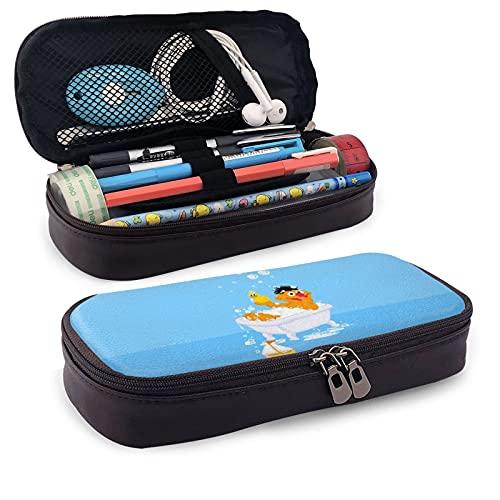 SES-AME Str-EET - Estuche para lápices con asa grande, organizador de escritorio de gran capacidad, caja de marcadores de papelería