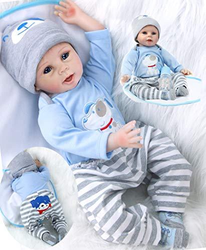 ZIYIUI Lifelike Reborn Baby Doll 22 Inch 55 cm Silicone Vinyl Soft Realistic Newborn Gift Toy Ages 3+
