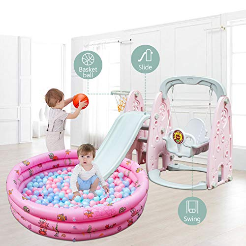 Happybuy Toddler Slide and Swing Set