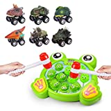 Dreamingbox Xmas Gifts for Kids Pull Back Dinosaur Car & Interactive Whack A Frog Game Pounding Toys for 3-12 Year Old Boys Party Favor Gifts for Boys Age 3-12 Stuffer Stocking