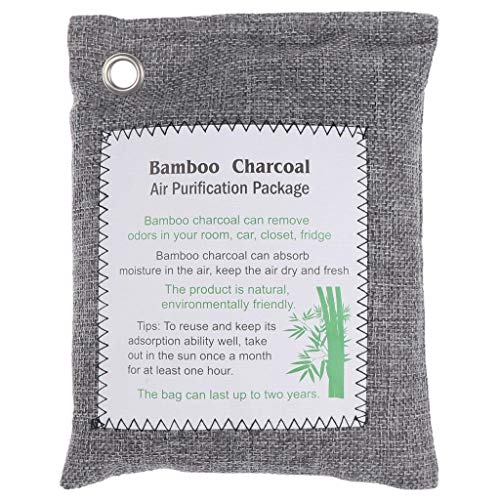 Great Features Of 1Pack Bamboo Charcoal Air Purifying Bag,Activated Charcoal Odor Absorber,for Home,...
