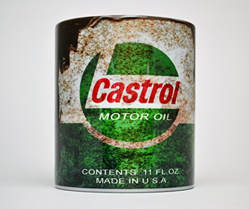 Castrol inspired Gift 10z Tea / Coffee mug Motorcycle Car Mechanic