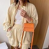 Mdsfe Retro Bucket Bags Mujer Bolso de Cuero de Alta Capacidad Casual Cocodrilo Hombro Messenger Bags Ladies PU Purse White - C, a2