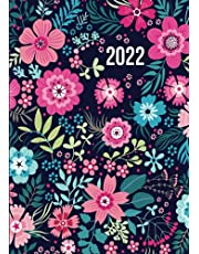 2022: Day to Day Diary A4   January to December Planner With Appointments & Times for Use at Home and Office   Large Floral