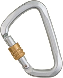 Liberty Mountain Hard Steel D Key Screw Gate Carabiner (Large)