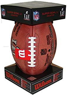 Wilson Super Bowl 51 Game Football, with PATRIOTS and FALCONS names, Official Size and Weight in COMMEMORATIVE SB51 BLACK BOX!