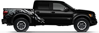 Factory Crafts Splash Side Graphics Kit 3M Vinyl Decal Wrap Compatible with Ford Raptor 2010-2014 - Silver