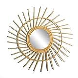 Espejo de Mimbre de bambú francés Espejo de tocador de Sol Bohemio Espejo de...