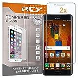 REY [Lot de 2] Protecteur d'écran 3D pour Huawei Mate 9 Pro, Transparent, Verre Polycarbonate de...