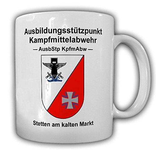 Tasse AusbStp KpfmAbw EOD Bundeswehr Pionier Ausbildungsstützpunkt Kampfmittelabwehr Wappen Stetten am kalten Meer #21652