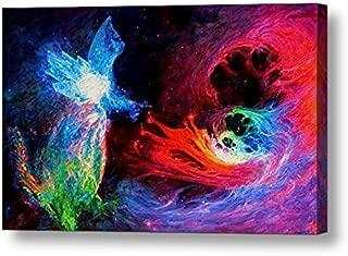 "Space Cat Angel 2-12.5""H x 20""W Canvas Print"