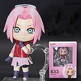 MNZBZ Anime Naruto Shippuden 833# Haruno Sakura Articulación móvil Ver Modelo PVC Intercambiable Mini colección Figura de acción muñeca 10 cm