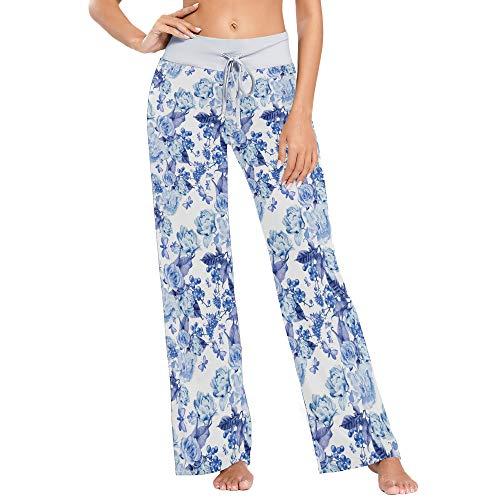 vvfelixl Shabby Chic Rose Flower Berry Blue Women