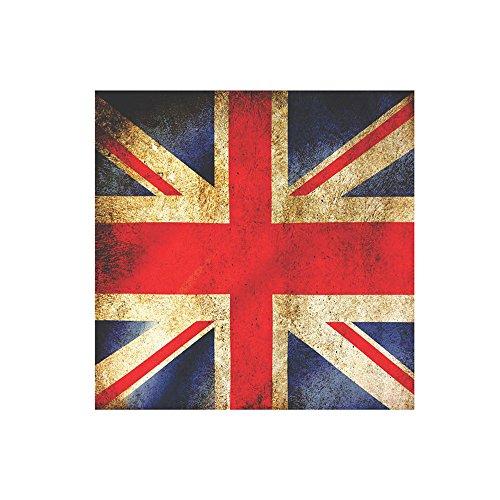 Placa Bandeira 25X25cm Kapos Preto
