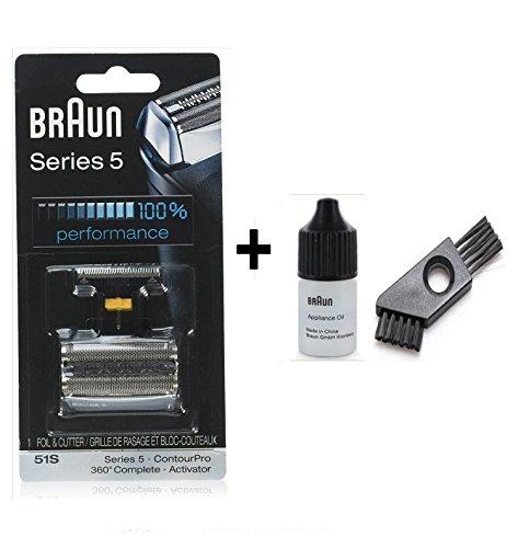 Braun 51S Scherteile Kombipack Series 5 mit Braun Reinigungsbürste und Braun Öl