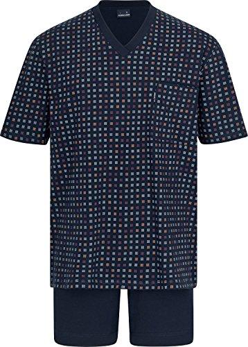 Herren Schlafanzug kurz Blau 50
