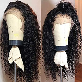 Fureya Long Loose Curly Glueless Lace Front Wigs for Women Heat Resistant Fiber Synthetic Hair with Baby Hair 24 inch 13x2.5 Inch Lace