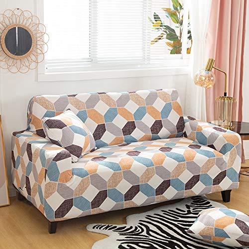 ASCV Housses de canapé en Spandex pour Impression de Salon Housse de canapé élastique Housses de Protection de Meubles de Fauteuil A8 4 Places