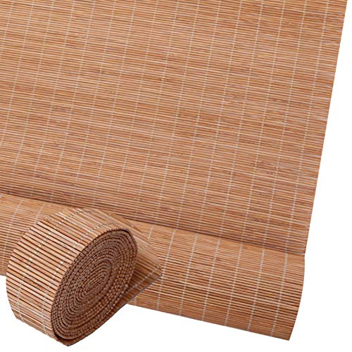 Persianas Enrollables Interior, Colgando Estores Bambú Cortina De Madera, Marrón Claro Cortinas Impermeable, Las Sombras No Oscurecerán El Paisaje ( Color : Brown , Size : 90 x 175 cm ( 36 x 69 in ) )