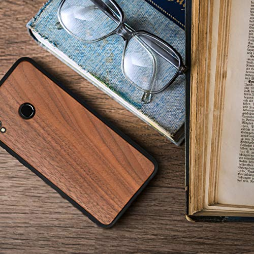 kwmobile Holz Schutzhülle für Huawei Honor 8X - Hardcase Hülle mit TPU Bumper Walnussholz in Dunkelbraun - Handy Case Cover - 4