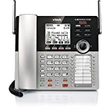 VTech CM18445 4-Line Expandable DECT6.0 Small Business Office Phone with Answering System-Main Console