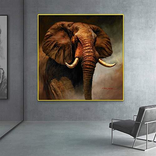 AJleil Puzzle 1000 Piezas Pintura clásica del Arte del Elefante Pintura Animal Puzzle 1000 Piezas Animales Rompecabezas de Juguete de descompresión intelectual50x75cm(20x30inch)