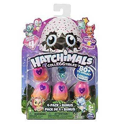 Hatchimals CollEGGtibles 4-Pack + Bonus Season 4 Hatchimals CollEGGtible, Ages 5 & Up (Styles and Colors May Vary) from Spin Master