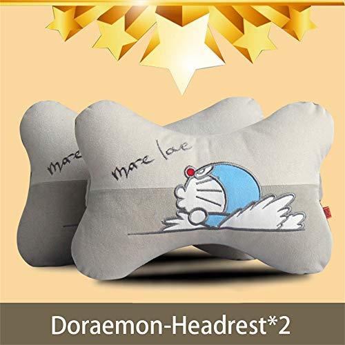 ziyouniu Car headrest Neck Pillow Pillow car Neck Pillow car Lumbar Pillow Cartoon Cute car Interior Supplies (Doraemon-Headrest2)